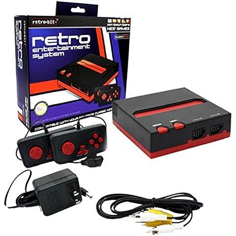 Imps - Consola Nintendo NES Retro 8-Bit, Color Rojo Y Negro + 2 Mandos