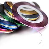 30Mixed Colors Rollos Striping Línea de cinta Nail Art Tips Decoración Adhesivo