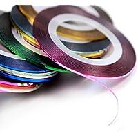 30rotoli colori assortiti Striping Nastro Linea Nail Art Tips decorazione Sticker