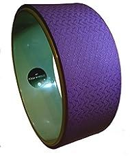 MyYogaWheels gris y Morado Yoga - Pilates rueda inversión estiramiento Prop reformador fisioterapia hombro masaje trasero