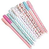 Leisial Bolígrafos de Tinta Gel de Corea Creativas kawaii Papelería Subrayadores de Colores 10 Unidades( multicolor )
