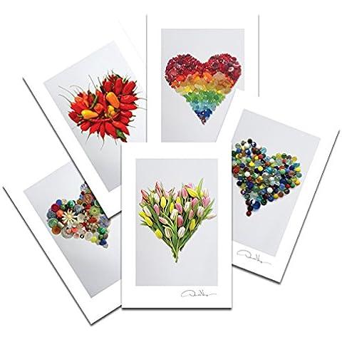 Amor 3 postal impresiones #.  10 paquete, 4 x 6, 2 de cada. Mejor Calidad regalos, tarjetas de cumpleaños, gracias notas e invitaciones. Único Navidad y regalos de San Valentín para las mujeres, hombres y niños de todas la edades
