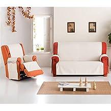 Funda Cubre Sofá Práctica Modelo Rafaella, Color CRUDO, para 3 Plazas