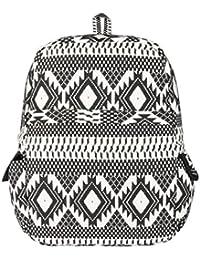 Crafts My Dream Women's Backpack Handbag (Black White, Cmd224)