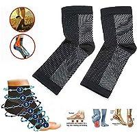 Dr Sock Soothers Socks Chaussettes de Soutien Anti-Fatigue pour Compression de La Gaine de Pied Anti-Fatigue pour La Fasciite Plantaire Achilles Cheville Anti-Fatigue (3 PCS)