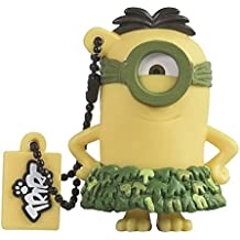 Tribe Los Minions Despicable Me Au Naturel - Memoria USB 2.0 de 8 GB Pendrive Flash Drive de goma con llavero, color amarillo