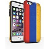 Coque Brillant Robuste Antichoc de STUFF4 / Coque pour Apple iPhone 6S / Arménie/Arménien Design / Drapeau Asie Collection
