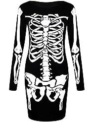 Langarm-Skelett Midikleid - 34/36 to 50/52