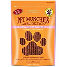 Pet Munchies - Sticks dentales 100% naturales de pollo y boniato para perros