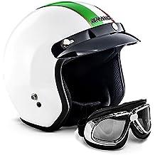 "Armor · AV-47 Set ""Italy"" · Casco moto Demi Jet · Urban Retro Helmet Scooter motocicleta Urbano · XS (53-54cm)"