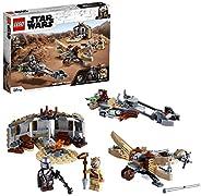 LEGO 75299 Star Wars: The Mandalorian Ärger auf Tatooine Bauset mit Baby Yoda das Kind Figur, Staffel 2, Spiel