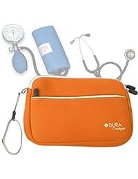 DURAGADGET Estuche De Neopreno Naranja para Guardar Sus Accesorios Médicos (Estetoscopio/Tensiómetro) |