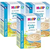 Hipp lait biologique porridge enfants Semoule, 3-pack (3 x 500g)
