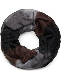 styleBREAKER fular de tubo con purpurina con motivo de gradiente de color a rayas, fular de tubo, pañuelo, chal de purpurina, señora 01017048
