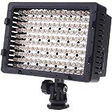 CN 160 lampe vidéo led pour l'éclairage caméscope dv caméra 3200-5400k pour canon panasonic