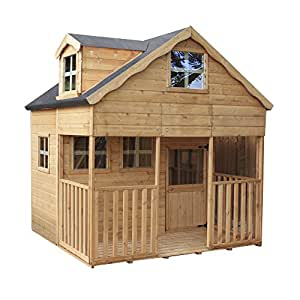 7x7 Wooden Dorma Playhouse - EN71 Safety Tested, Shiplap Cladding & Roof Felt - By Waltons