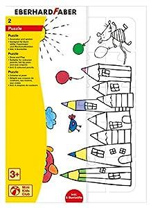 Eberhard Faber 579944-Puzzle para Colorear, Incluye lápices de Colores, Juego de 2