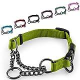 CarlCurt - Training Line: Retriever-Hundehalsband Aus Strapazierfähigem Nylon, Verstellbar, 28-38cm, Hellgrün