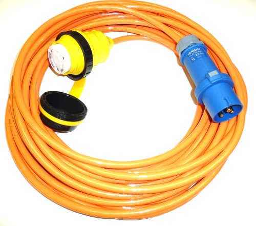 HTH Art. 909 Landanschlusskabel CEE 230V auf US Marinco, NEMA mit 25m Bootskabel Landanschluss-kabel