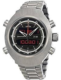 Space Master schwarz Zifferblatt Edelstahl Herren-Armbanduhr