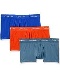 Calvin Klein 3P LR Trunk, Boxer Homme, Lot de 3,