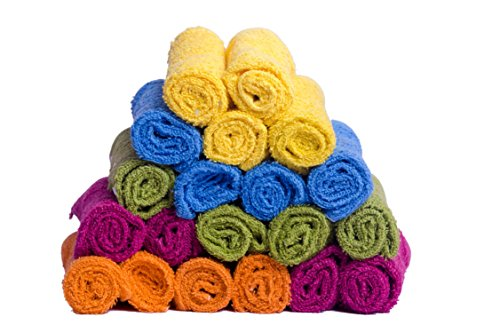 Skumar Love Touch - Face Towel - Pack of 20 (Knitted) 300 GSM - Mutli Colour