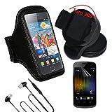 Skque® Transparente Displayschutzfolie + Schwarzes Neopren Armband mit Tasche +...