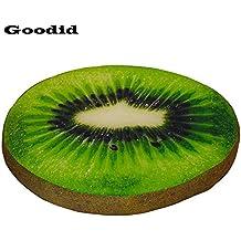 Goodid colchón colcholeta para perro y gato, cama cómoda de diseño gracioso de fruta para mascotas (50*50*5cm, Kiwi)