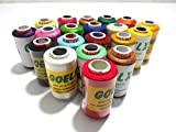 #4: Goelx Silk Thread 20 Main color Set for jewellery-tassel making- embroidery-crafts, shiny soft thread spools