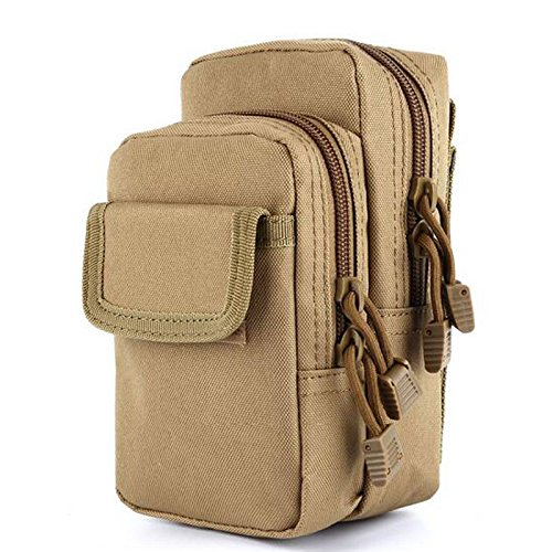 MOLLE Tasche Kompakt Outdoor Mehrzweck-Utility Gadget Werkzeug für draußen Aktivitäten clay