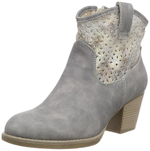 Rieker Y1965, Damen Halbschaft Stiefel, Grau (cement/antique/40), 42 EU (8 Damen UK)