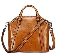 Sonyabecca Women's Vintage Leather Messenger Bag Cross Body ShoulderBag