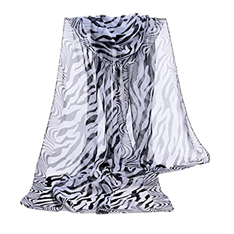Internet Women Zebra Stripe Prints Chiffon Scarf Shawl Wraps