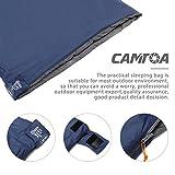CAMTOA® ultraleicht, klein, warm Schlafsack Hüttenschlafsack, Outdoor Wasserdicht Camping Sleeping Bag Sommerschlafsack Blau - 3