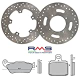 RMS - Kit complet disques plaquettes de frein pour Yamaha X-Max 1252006/2009