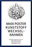 Wechselrahmen Shinsuke® Maxi-Poster 61,5x91cm Qualitätsrahmen, Profil: 15mm - Kunststoff Blau, Acrylscheibe beidseitig foliengeschützt
