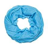 MANUMAR Loop-Schal für Damen einfarbig | feines Hals-Tuch in hell-blau als perfektes Herbst Winter Accessoire | Schlauch-Schal | Damen-Schal | Rund-Schal | Geschenkidee für Frauen und Mädchen