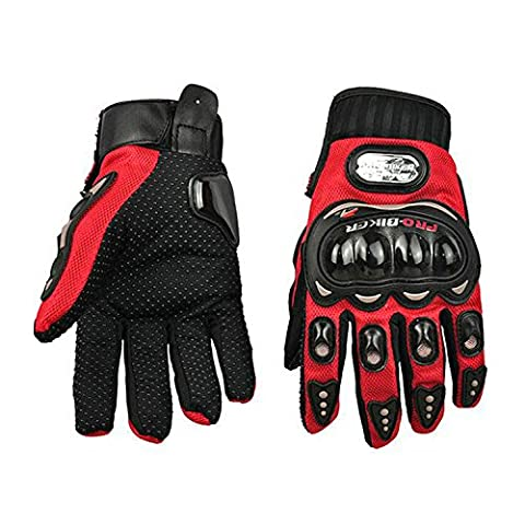 Tailcas® Professionnel Gants Moto / Gants Finger Complet / Gants Plein Doigt / Full-finger Mitaines / Sportif Gloves Protection pour Moto Motorcycle Racing Moto Motocross Vélo Dirt Bike