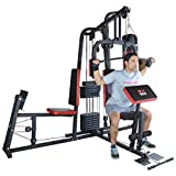 TrainHard® Kraftstation Multistation Fitnessstation Home Gym inkl. Beinpresse, erweiterbar (optinal): Dipstation, Beinhebe, Sit Up Bank, Stepper, Push Up Bar, Boxsackhalterung, Speedball Plattform. (Kraftstation inkl. Beinpresse)
