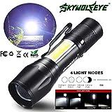 mxjeeio 9.3 * 2.4 * 2cm 2000LM Zoom XPE Q5 + COB LED Mini Flashlight 14500/AA 4 Modes Pocket Torch Lantern Taktische Militär Flashlight für Camping Outdoor