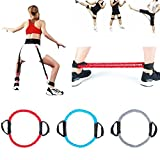 Beautyrain Bands Yoga Pull Rope Resistance Strap Leg Training Trainer Adjustable Rally Fitness Body Building Equipment Set Home Black