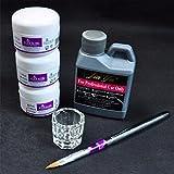 Tonsee Pro Simply Nail Art Kits Stylo à poudre acrylique en poudre Dappen set Outils