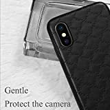 YEEWEN 2019 All-inclusive Protective Case Compatible with iPhone XS Max, Baccarat Rhombus Pattern TPU + PU, Slim Lightweight Shockproof Scratch-resistant (Color : Purple)