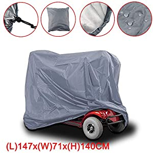 Waterproof Mobility Scooter Storage Cover and Wheelchair Storage Cover Heavy Duty Rain Protection
