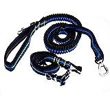 Gran perro de mascota correa reflectante primavera cuello de la correa de tracción de cuerda 70-126cm - Azul