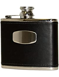 Bisley hip flask - 4oz 6oz pewter or stainless steel shooting whisky flask