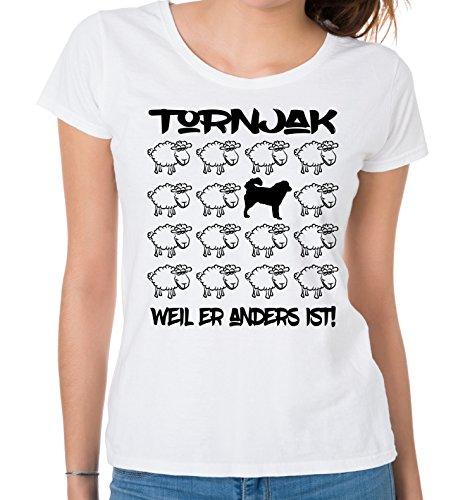 Siviwonder WOMEN T-Shirt BLACK SHEEP - TORNJAK Bosnien Kroatien Hund - Hunde Fun Schaf Weiß