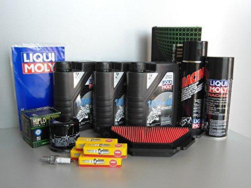 Manutenzione–Set Yamaha XJ6, con filtro dell' olio, Candela, catena, di ispezione di grasso, olio
