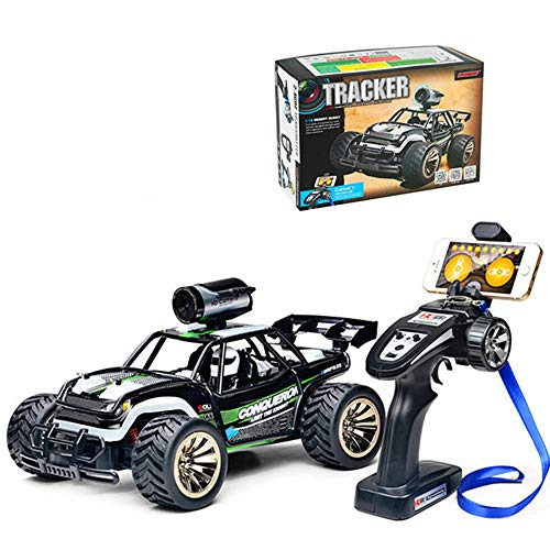 WXIAORONG 0.3MP HD Camera Car Racing, 1:16 Scale RC Car 2WD Off Road Vehicle 2.4G Radio Remote Control Car WiFi High Speed Remote Control Tracker Climbing Racing Toy Car,Green