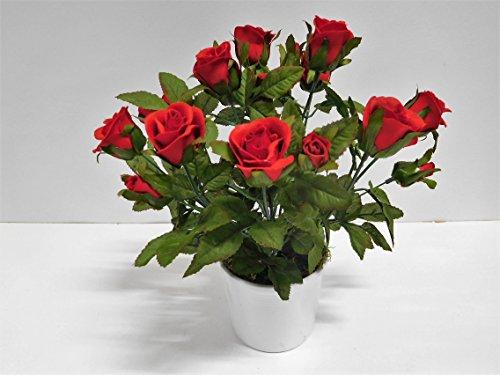 Kunstpflanze Mit Blüten un einer dekorativen Form